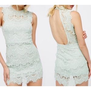 Free People Daydream Mint Lace Dress